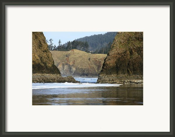 Ecola From Chapman Pt. Framed Print By Steven A Bash