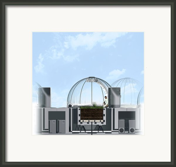 Ecotron Project, Artwork Framed Print By Claus Lunau