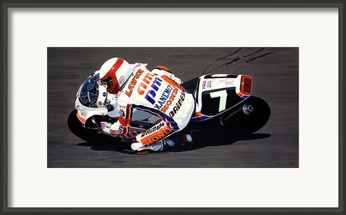 Eddie Lawson - Suzuka 8 Hours Framed Print By Jeff Taylor