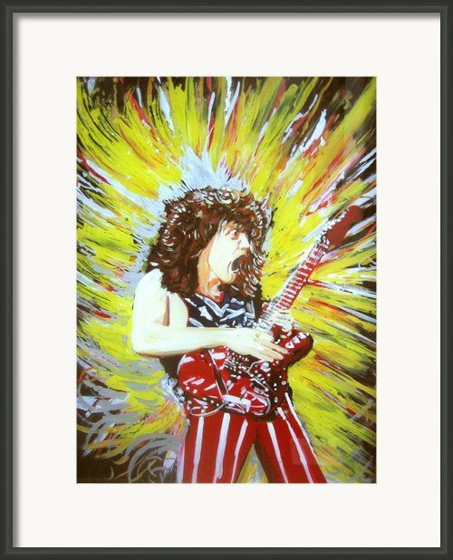 Eddy Van Halen - Eruption Framed Print By Ferril Nawir