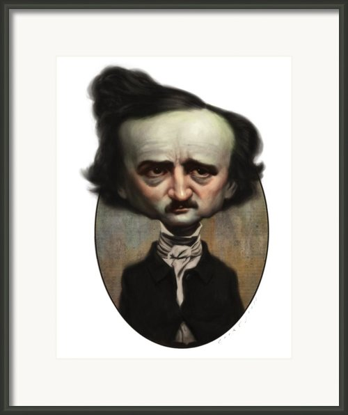 Edgar Allan Poe Framed Print By Court Jones