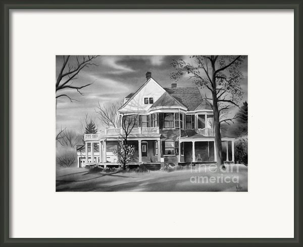 Edgar Home Bw Framed Print By Kip Devore