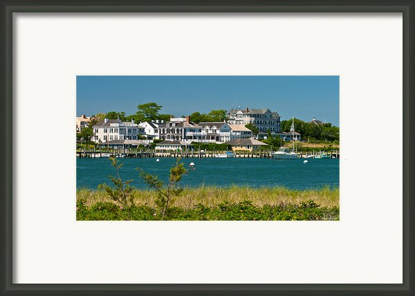 Edgartown Harbor Marthas Vineyard Massachusetts Framed Print By Michelle Wiarda