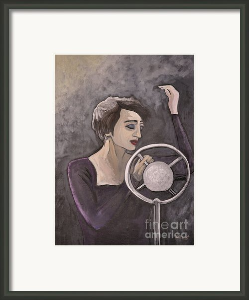 Edith Piaf Framed Print By Reb Frost