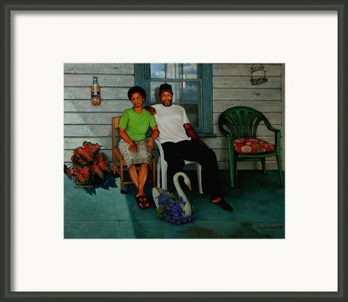 Edna And Sammy Of Johnston County Framed Print By Doug Strickland