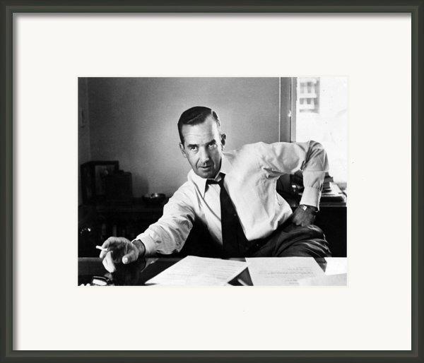 Edward R. Murrow, 1954 Framed Print By Everett