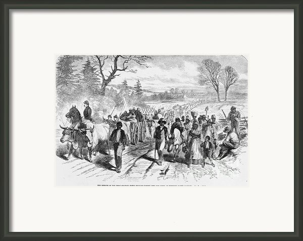 Effects Of Emancipation Proclamation Framed Print By Photo Researchers