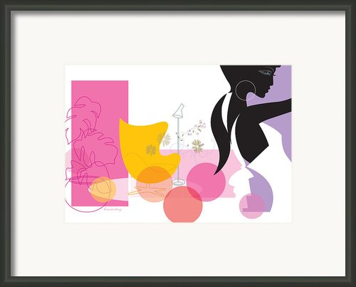Egg Chair Framed Print By Lisa Henderling