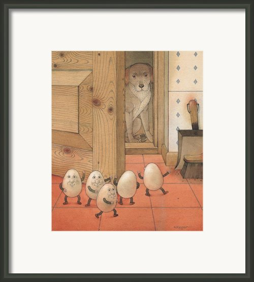 Eggs And Dog Framed Print By Kestutis Kasparavicius
