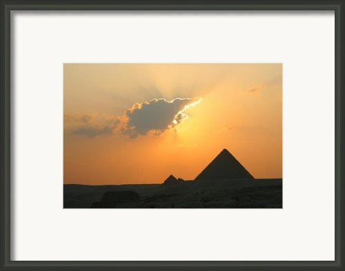 Egpytian Sunset Behind Cloud Framed Print By Donna Corless