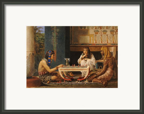 Egyptian Chess Players Framed Print By Sir Lawrence Alma-tadema