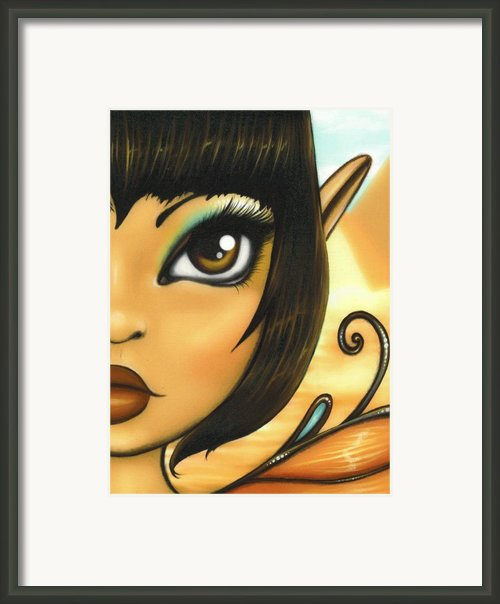 Egyptian Fairy Framed Print By Elaina  Wagner