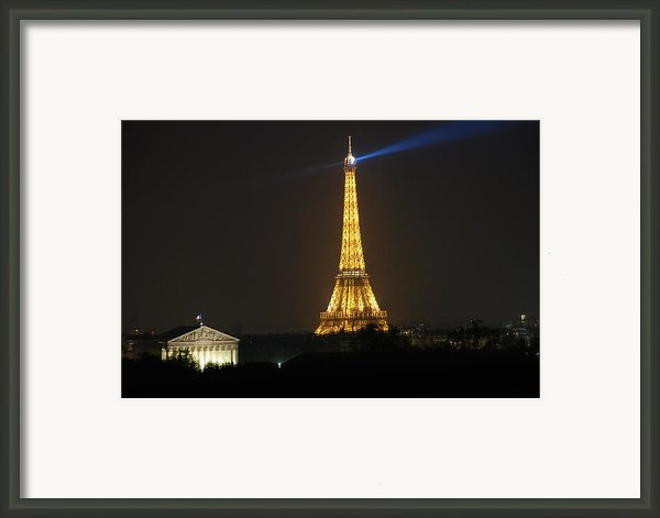 Eiffel Tower At Night Framed Print By Jennifer Lyon