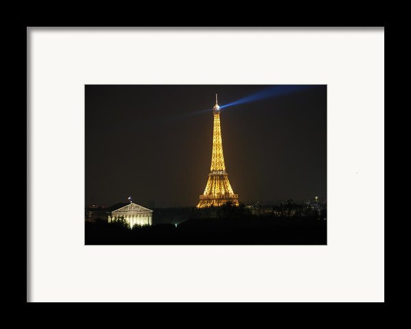 Eiffel Tower At Night Framed Print By Jennifer Lyon
