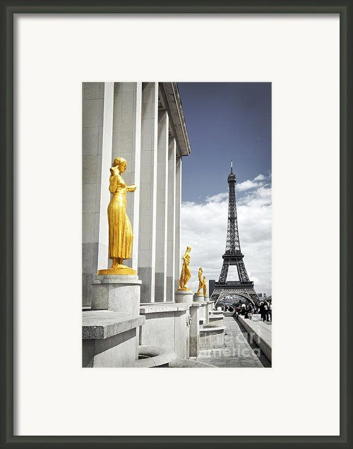 Eiffel Tower From Trocadero Framed Print By Elena Elisseeva