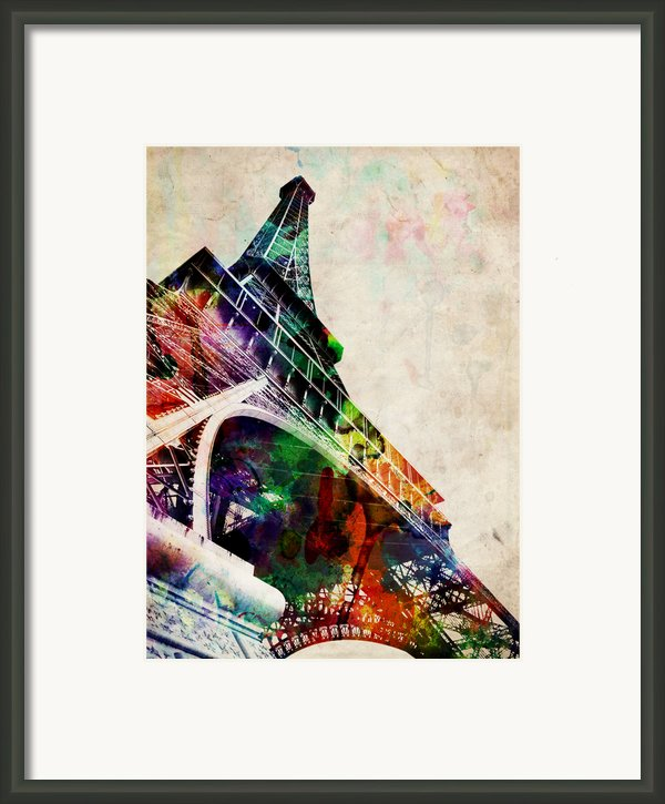 Eiffel Tower Framed Print By Michael Tompsett