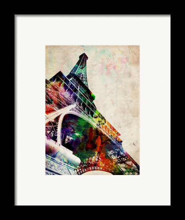 Eiffel Tower Framed Print By Michael Tompsett