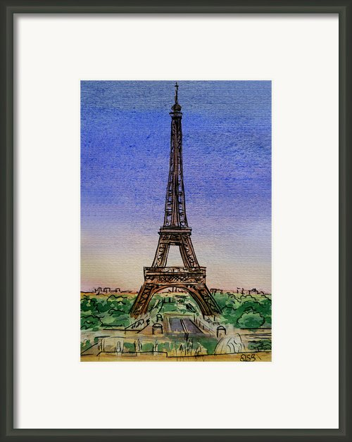 Eiffel Tower Paris France Framed Print By Irina Sztukowski