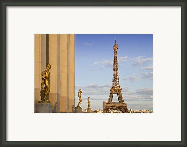 Eiffel Tower Paris Trocadero  Framed Print By Melanie Viola