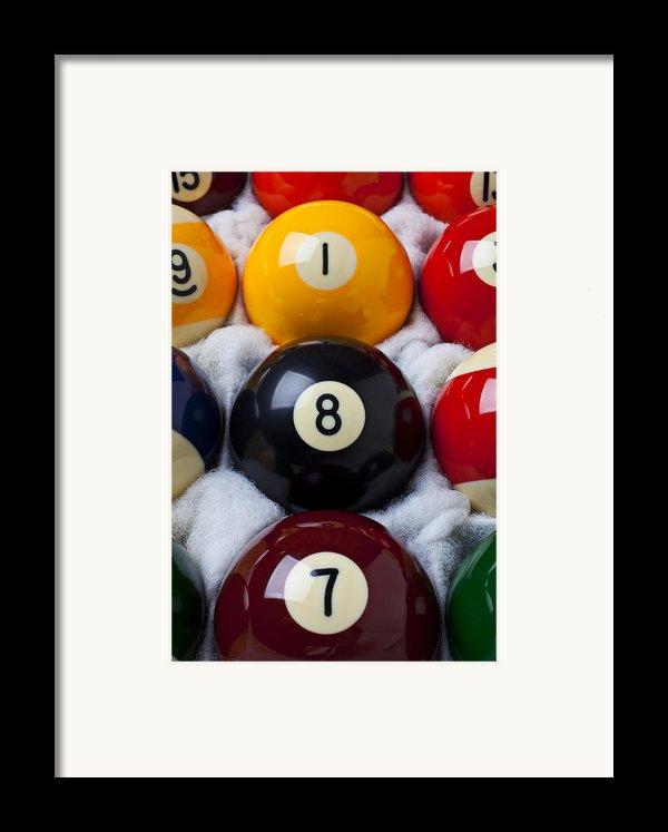 Eight Ball Framed Print By Garry Gay