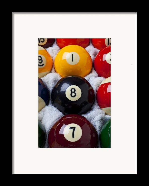 Eight Ball Framed Print By Garry Gay