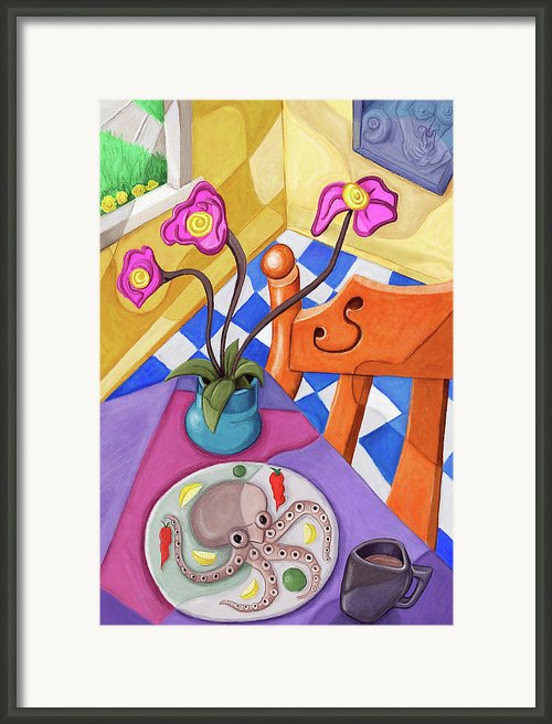 Eight Leg Dinner Framed Print By David Kyte