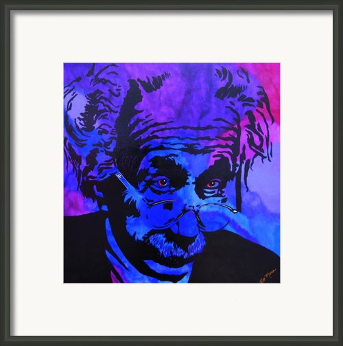 Einstein-all Things Relative Framed Print By Bill Manson