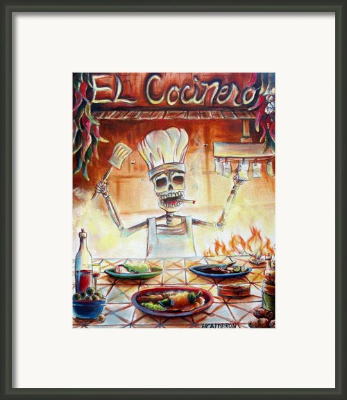 El Cocinero Framed Print By Heather Calderon