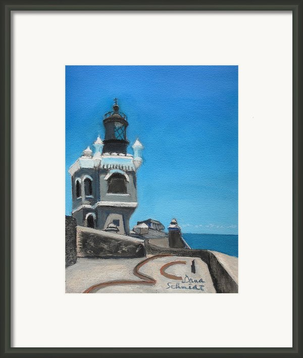 El Morro Fort In Old San Juan Puerto Rico Framed Print By Dana Schmidt