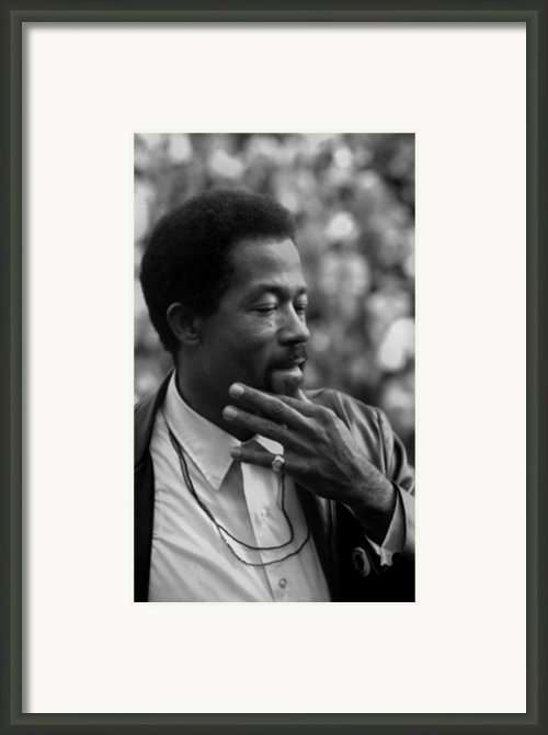 Eldridge Cleaver 1935-1998, Minister Framed Print By Everett