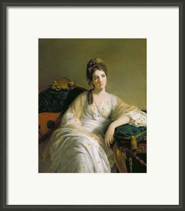 Eleanor Francis Grant - Of Arndilly Framed Print By Tilly Kettle