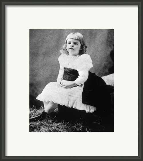 Eleanor Roosevelt 1884-1962, Ca. 1889 Framed Print By Everett