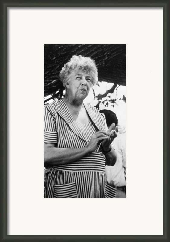 Eleanor Roosevelt 1884-1962, First Lady Framed Print By Everett