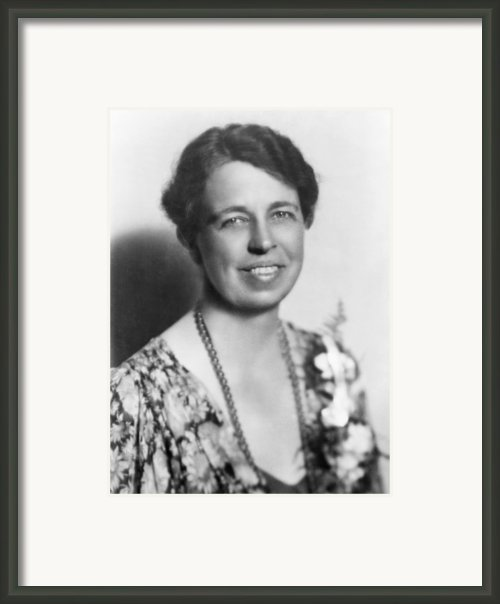 Eleanor Roosevelt 1884-1962 In July Framed Print By Everett