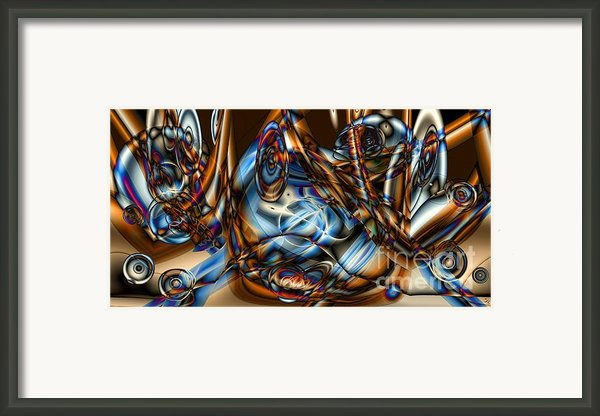 Electric Blue Framed Print By Ron Bissett