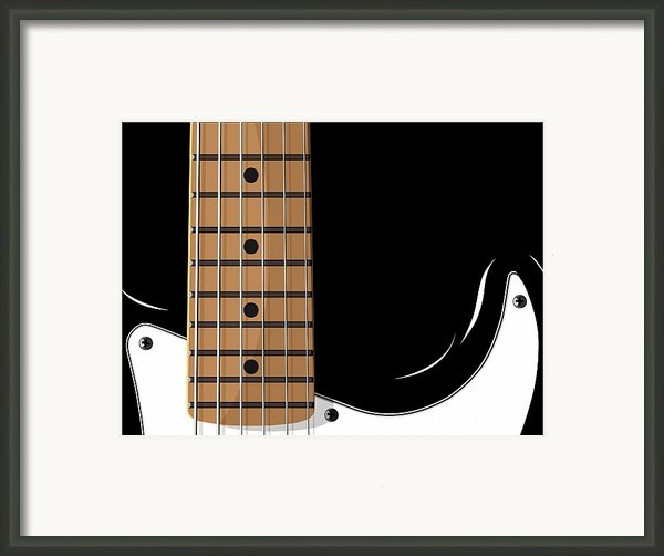 Electric Guitar Framed Print By Michael Tompsett