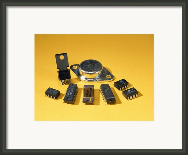Electronic Circuit Board Components Framed Print By Andrew Lambert Photography