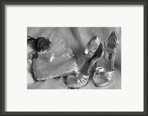 Elegant Night Out In Black And White Framed Print By Mark J Seefeldt