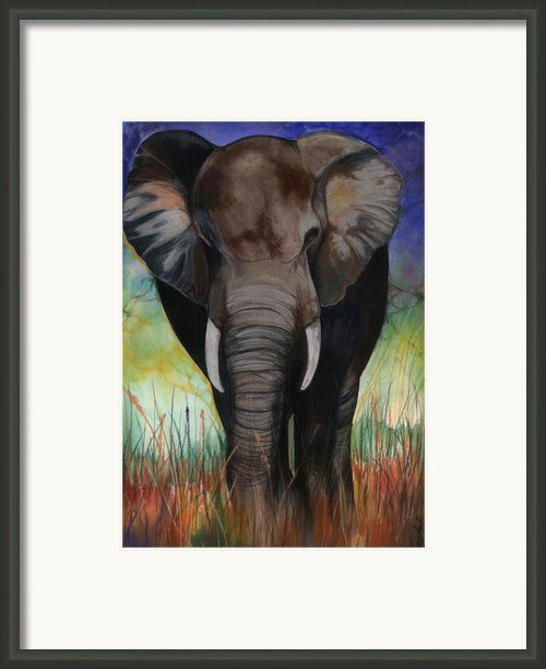 Elephant Framed Print By Anthony Burks