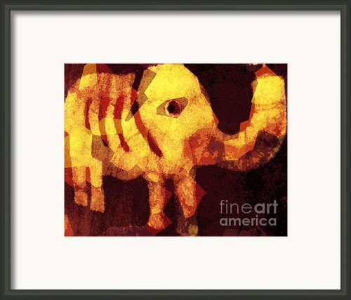 Elephant I Am Framed Print By Fania Simon
