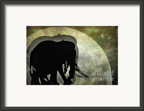 Elephants On Moonlight Walk 2 Framed Print By Kaye Menner