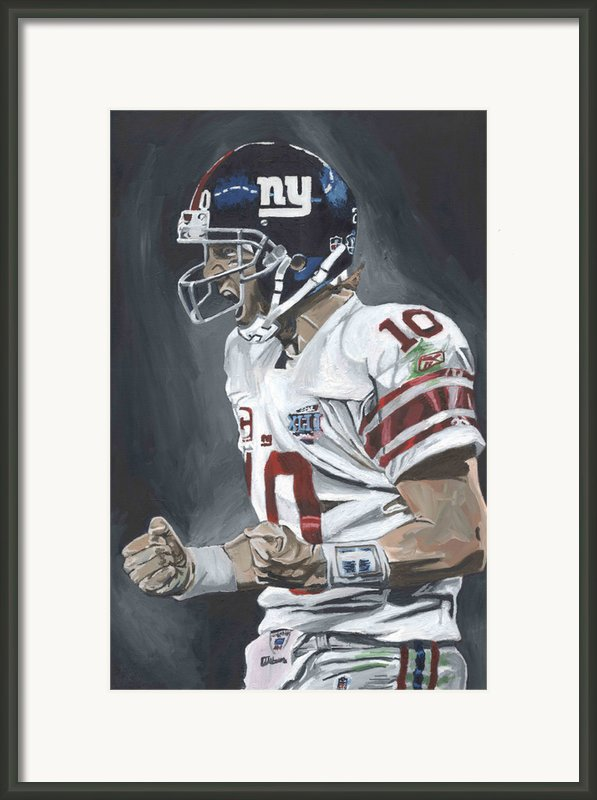 Eli Manning Super Bowl Mvp Framed Print By David Courson