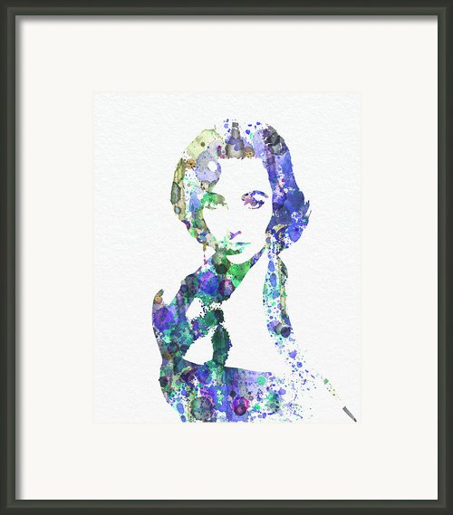 Elithabeth Taylor Framed Print By Irina  March
