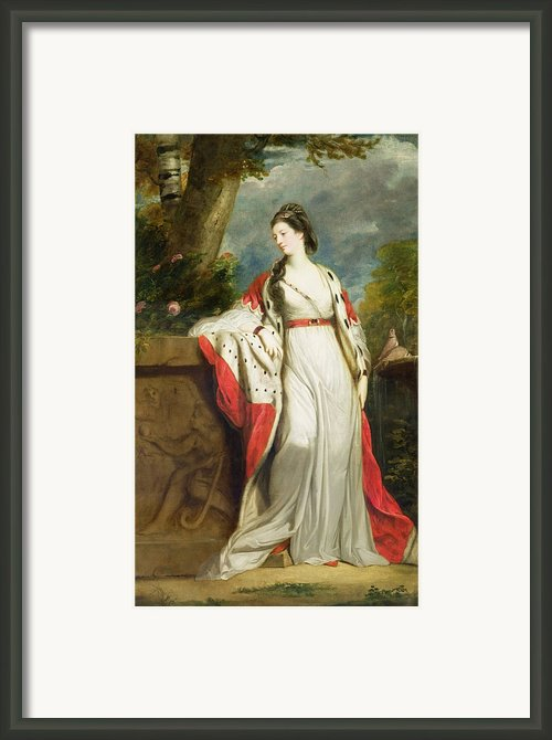 Elizabeth Gunning - Duchess Of Hamilton And Duchess Of Argyll Framed Print By Sir Joshua Reynolds