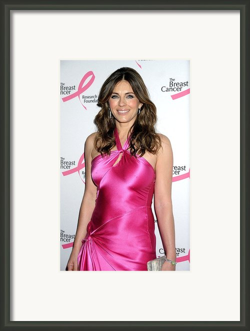 Elizabeth Hurley At Arrivals For Hot Framed Print By Everett