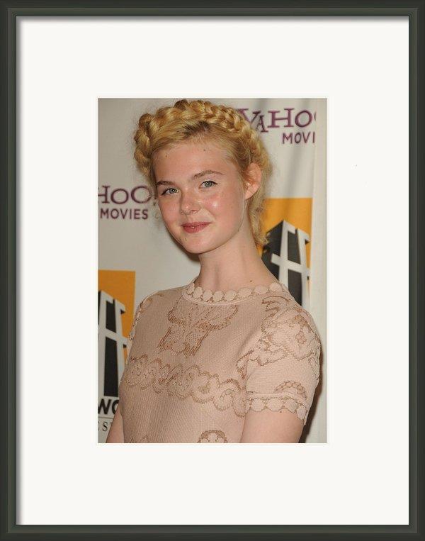 Elle Fanning At Arrivals For 15th Framed Print By Everett