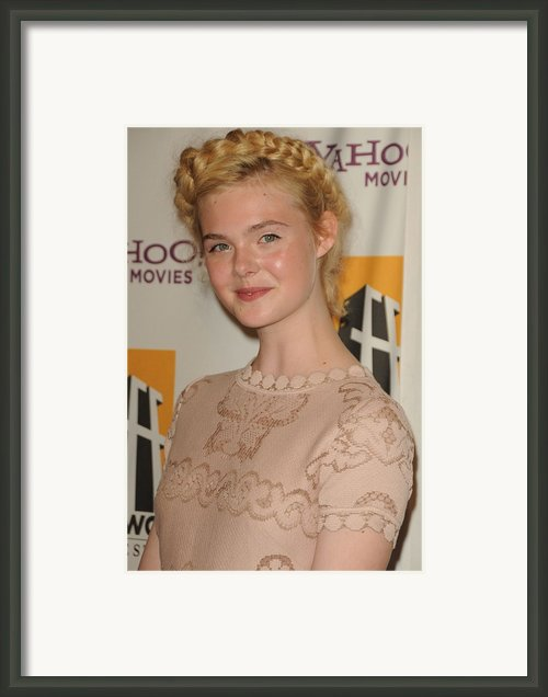 Elle Fanning At Arrivals For 15th Framed Print By Everett