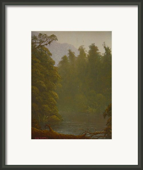 Ellery River 1977 Framed Print By Terry Perham
