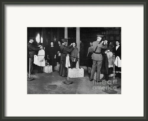 Ellis Island: Examination Framed Print By Granger