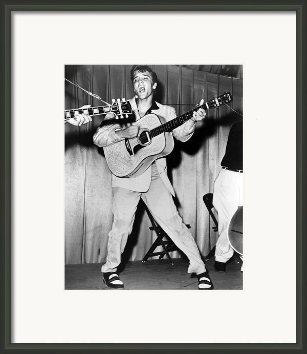 Elvis Presley, C. Mid-1950s Framed Print By Everett